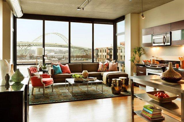Contemporary Apartment Living Room Urban Apartment Living Room Contemporary Living Room