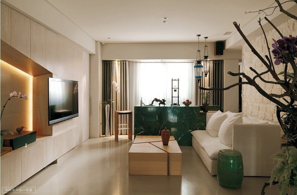 Contemporary asian Living Room A Modern asian Minimalistic Apartment