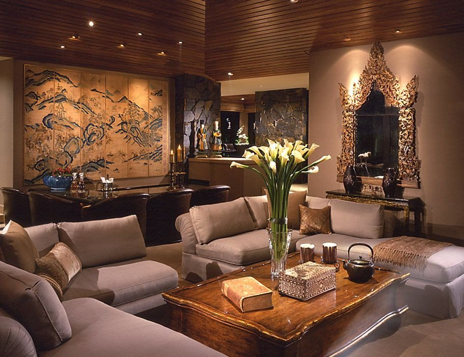Contemporary asian Living Room Interior Design Contemporary asian Palm Desert Ca