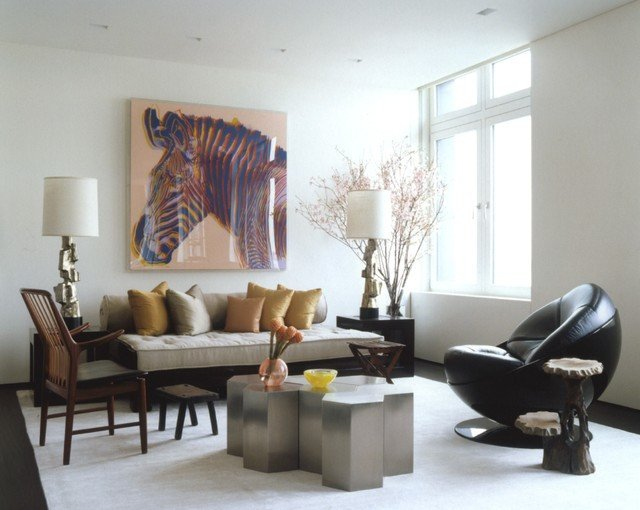 Contemporary asian Living Room Ny Modern asian Modern Living Room New York by Sam