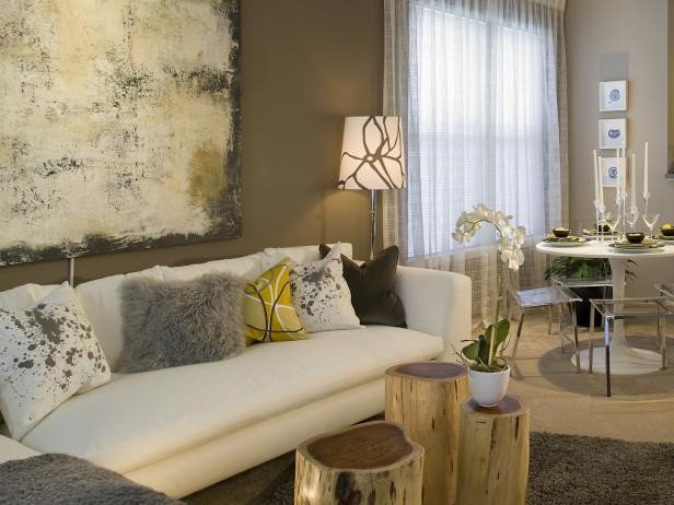 Contemporary Brown Living Room 10 Tips for Picking Paint Colors