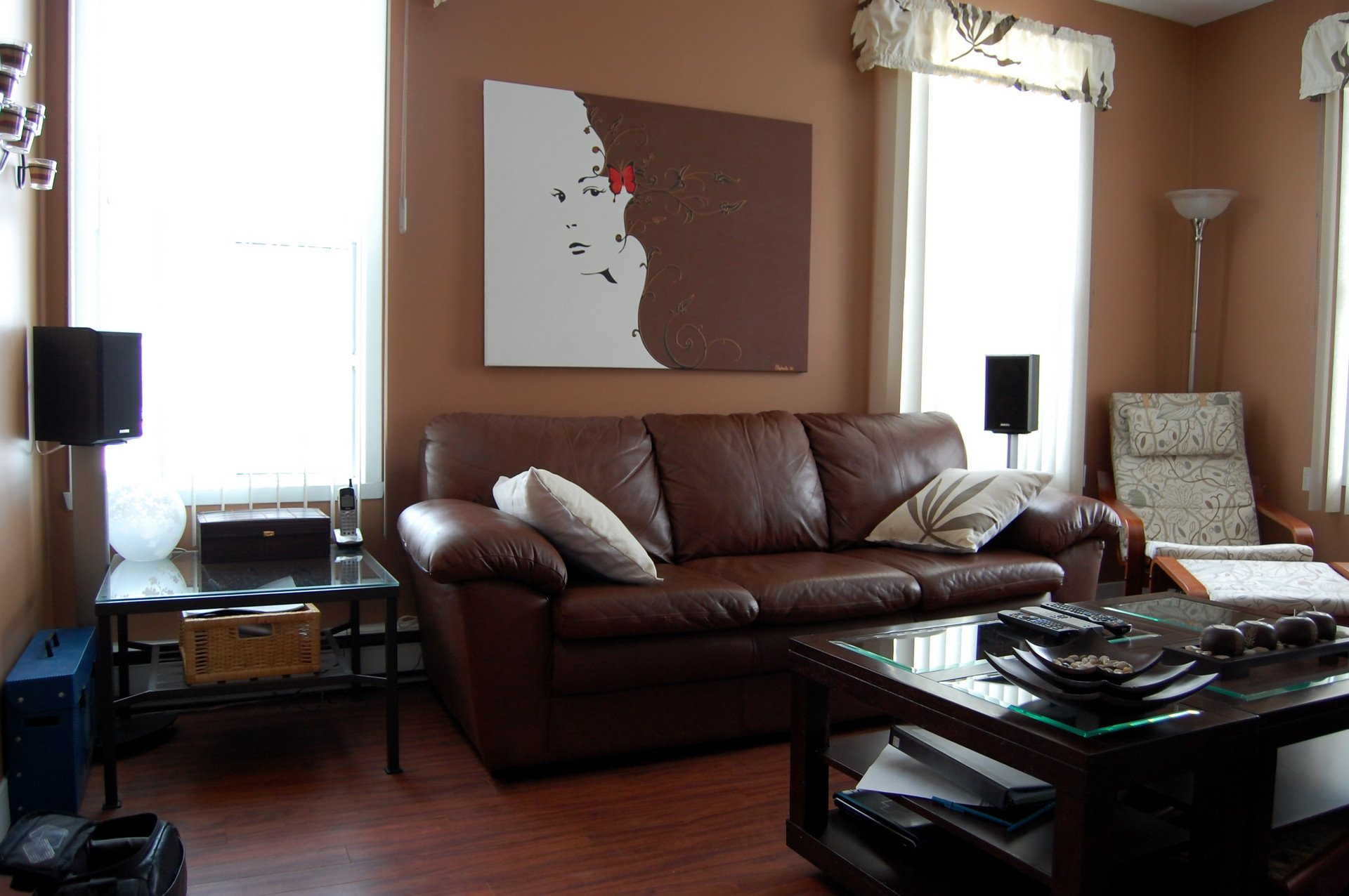 Contemporary Brown Living Room 35 Living Room with Dark Brown sofa Living Room Living