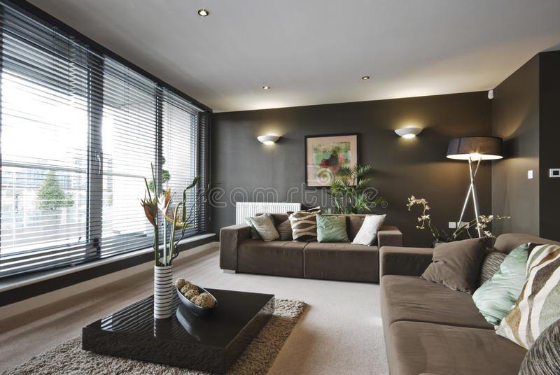 Contemporary Brown Living Room Contemporary Luxury Living Room Stock Image Image Of