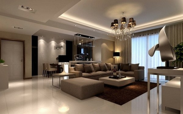 Contemporary Brown Living Room Living Room Design Ideas In Brown and Beige 50 Fabulous