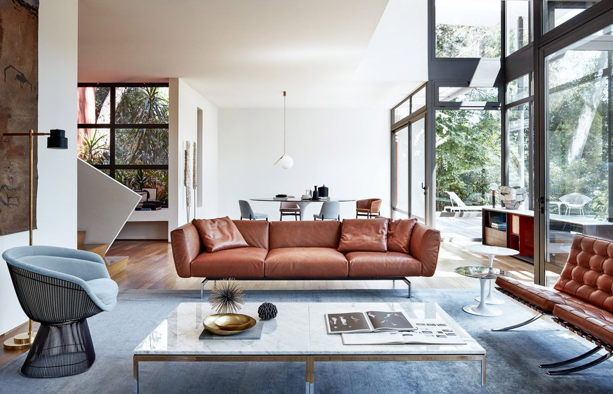 Contemporary Brown Living Room Living Rooms with Brown sofas Tips & Inspiration for