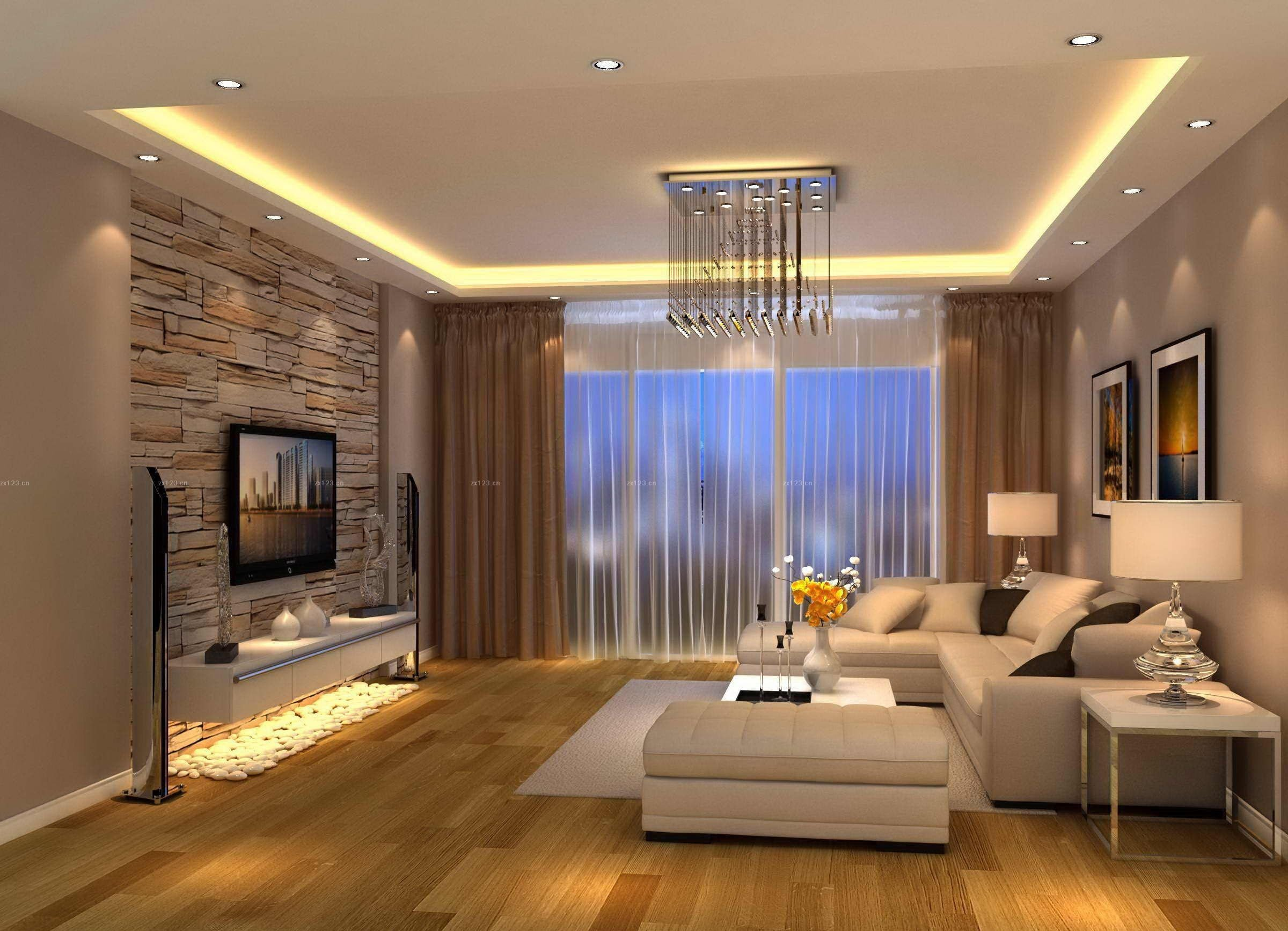 Contemporary Brown Living Room Modern Living Room Brown Design …