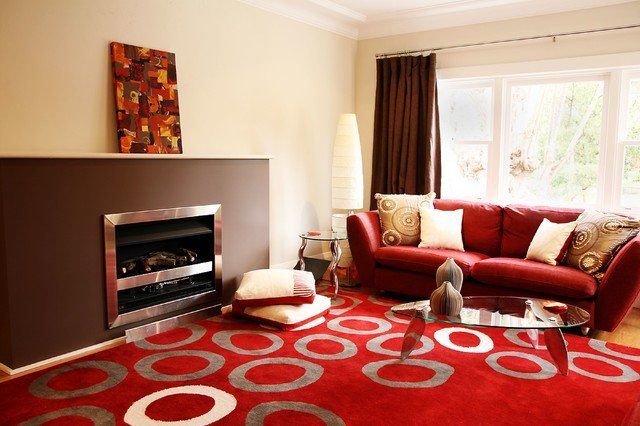 Contemporary Brown Living Room Red and Brown Living Room Contemporary Living Room