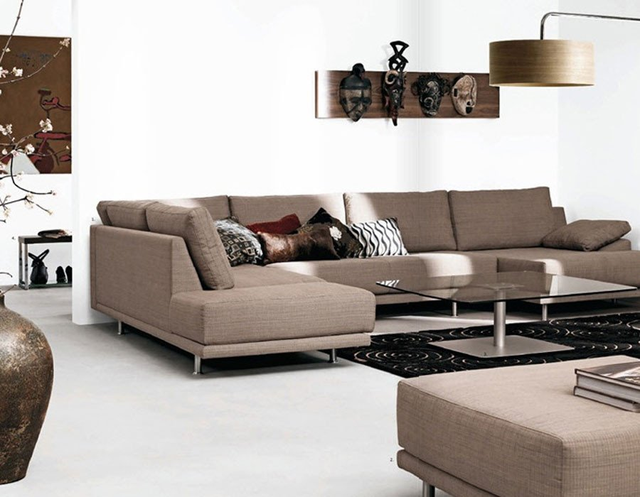 Contemporary Brown Living Room White Living Room Crafts with Brown sofas Interior