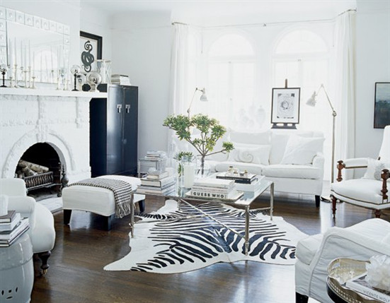 Contemporary Chic Living Room Black White 30 Most Beautiful Interiors