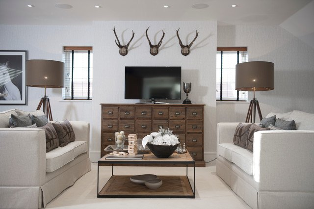 Contemporary Country Living Room Cranleigh Modern Country Home
