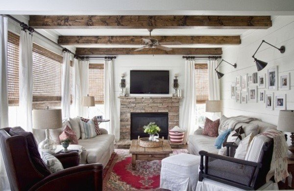 Modern Country Living Room eclectic living room atlanta