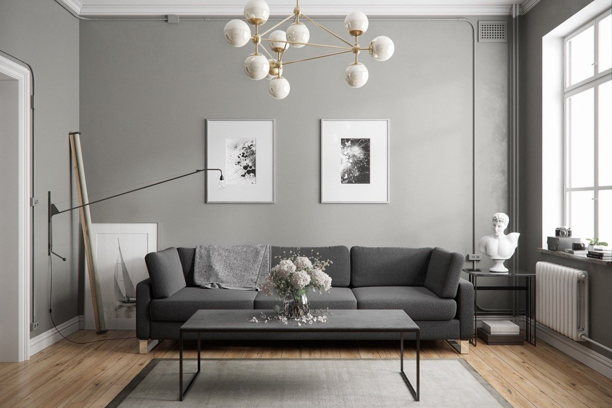 Contemporary Grey Living Room 40 Grey Living Rooms that Help Your Lounge Look