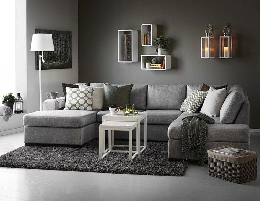 Contemporary Grey Living Room 87designs