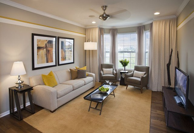 Contemporary Grey Living Room Contemporary Yellow and Gray Living Room