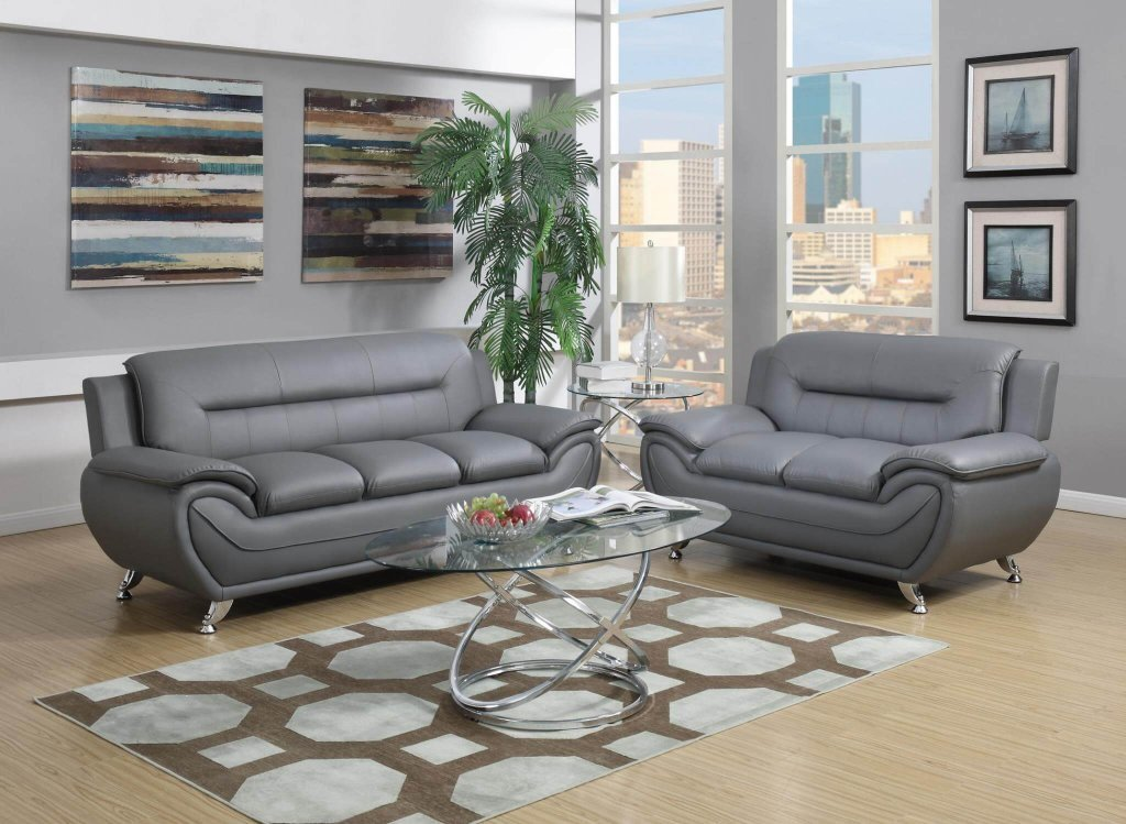 Contemporary Grey Living Room Grey Contemporary Living Room Set