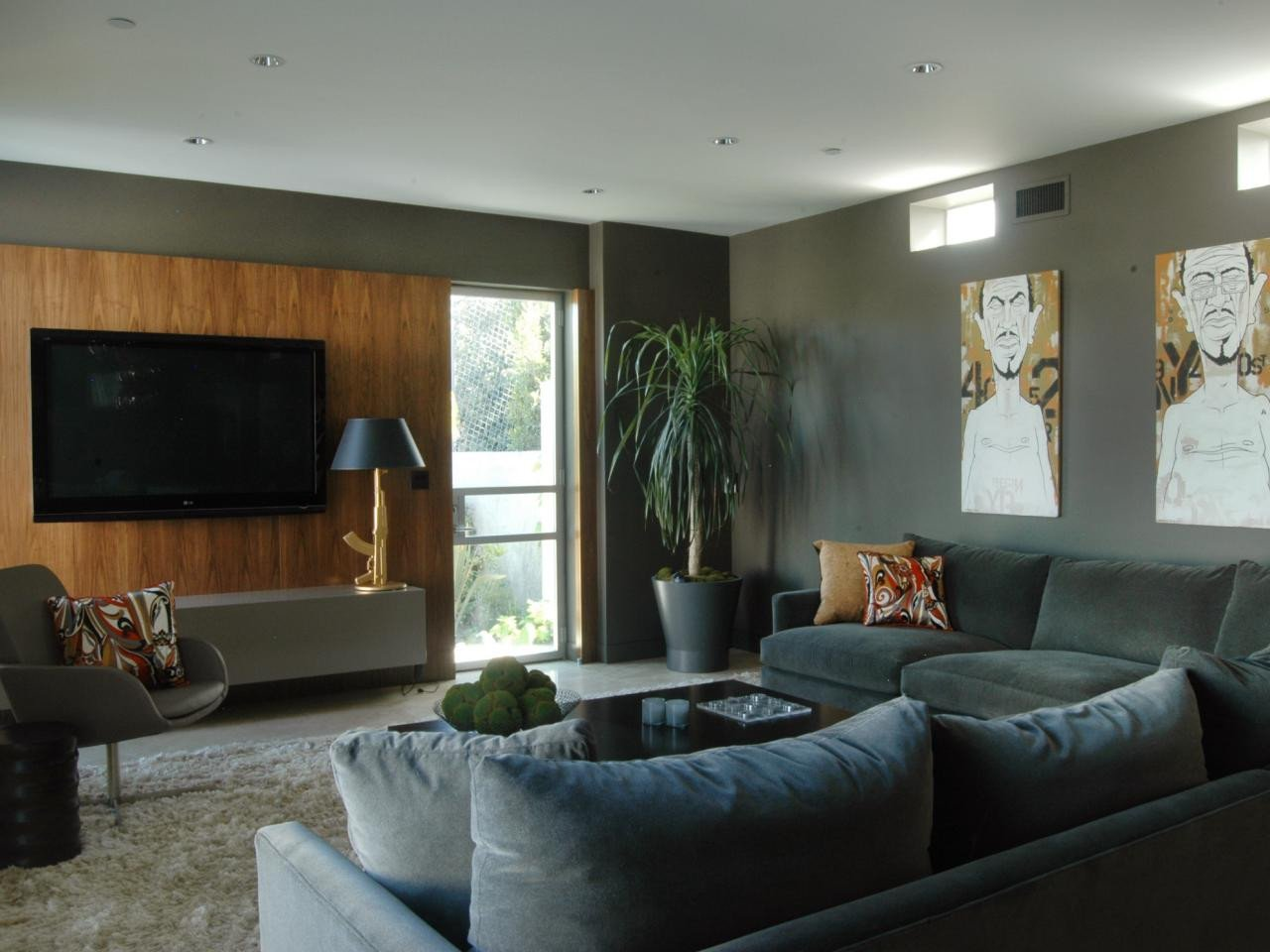 Contemporary Grey Living Room S