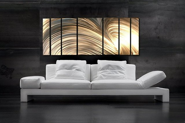 Contemporary Living Room Art Abstract Metal Art Modern Living Room Salt Lake City
