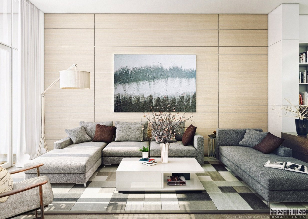 Contemporary Living Room Art Light Filled Contemporary Living Rooms