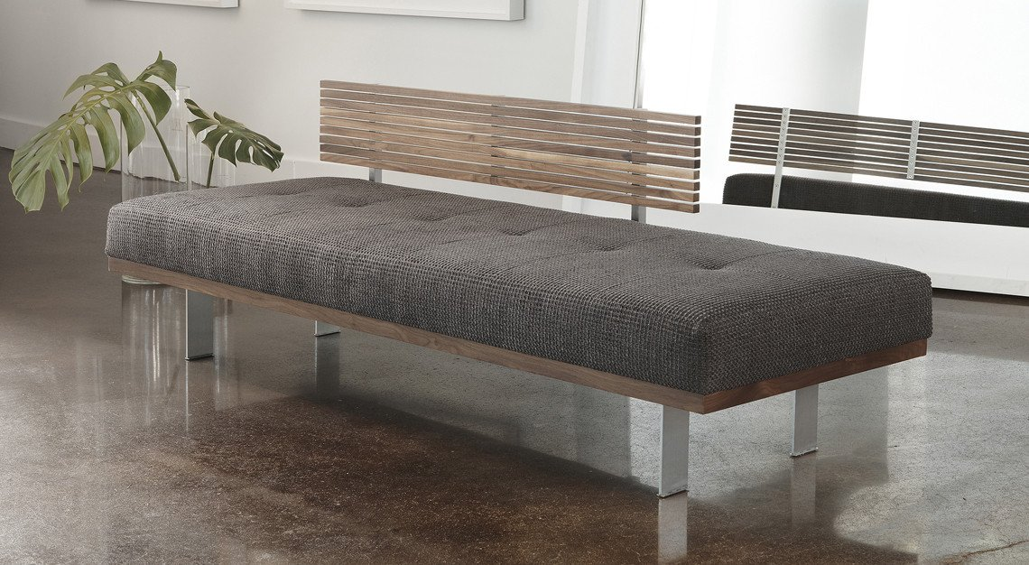 Contemporary Living Room Benches American Leather Knox Bench