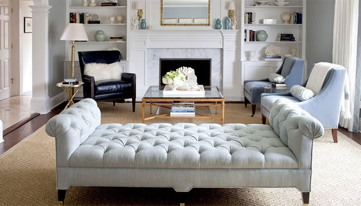 Contemporary Living Room Benches How to Make Your Living Room Appear Bigger