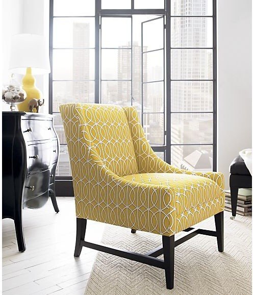 Contemporary Living Room Benches Yellow Chair