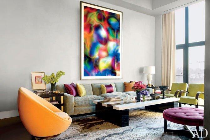 Contemporary Living Room Colors Jamie Drake S New York City Apartment