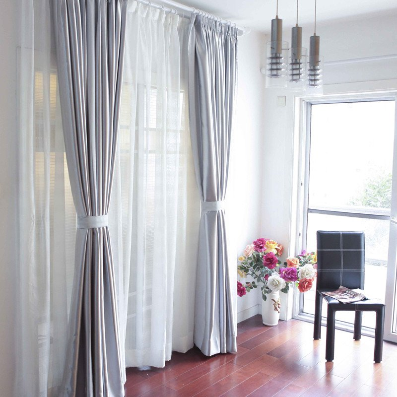 Contemporary Living Room Curtains European Style Modern Blackout Curtain for Living Room