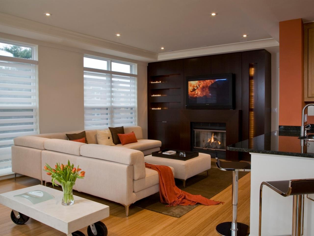 Contemporary Living Room Fireplace 10 Ultramodern Fireplaces
