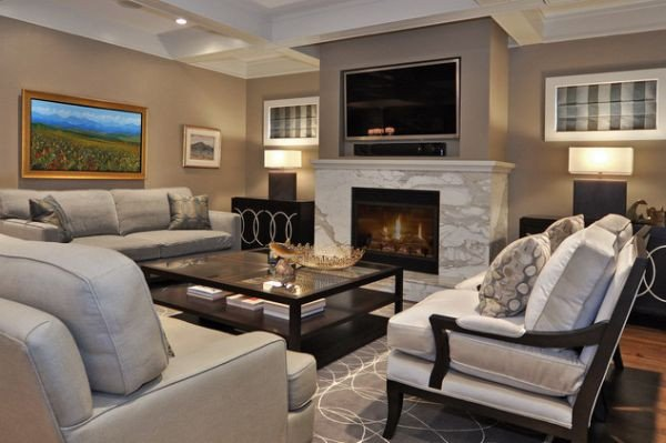 Contemporary Living Room Fireplace 125 Living Room Design Ideas Focusing Styles and