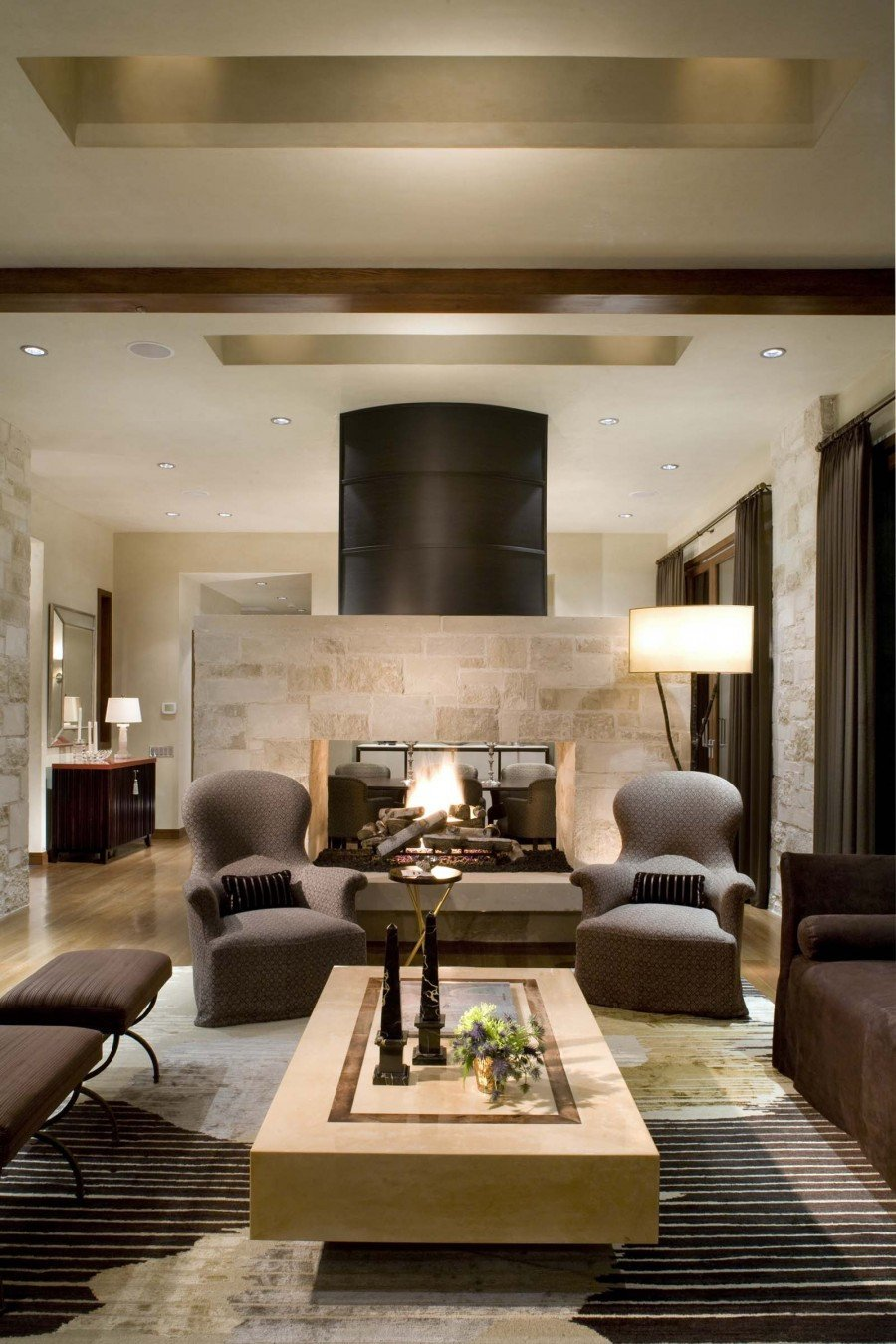 Contemporary Living Room Fireplace 16 Fabulous Earth tones Living Room Designs Decoholic