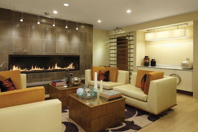 Contemporary Living Room Fireplace 7 Custom Gas Fireplace Contemporary Living Room