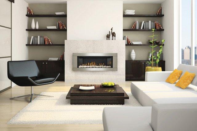 Contemporary Living Room Fireplace Contemporary Gas Fireplaces Contemporary Living Room