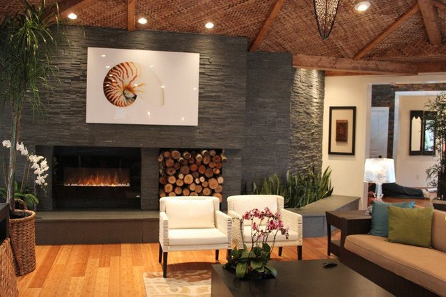 Contemporary Living Room Fireplace Contemporary Natural Stone Fireplace Modern Living
