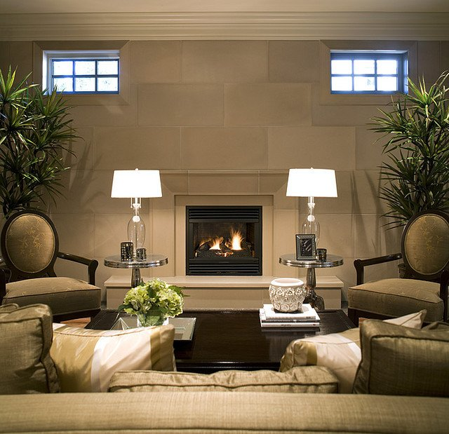 Contemporary Living Room Fireplace Fireplace Mantels and Surrounds