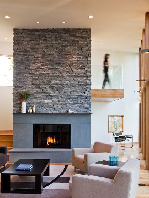 Contemporary Living Room Fireplace Ledgestone Fireplace Home Design Ideas Remodel