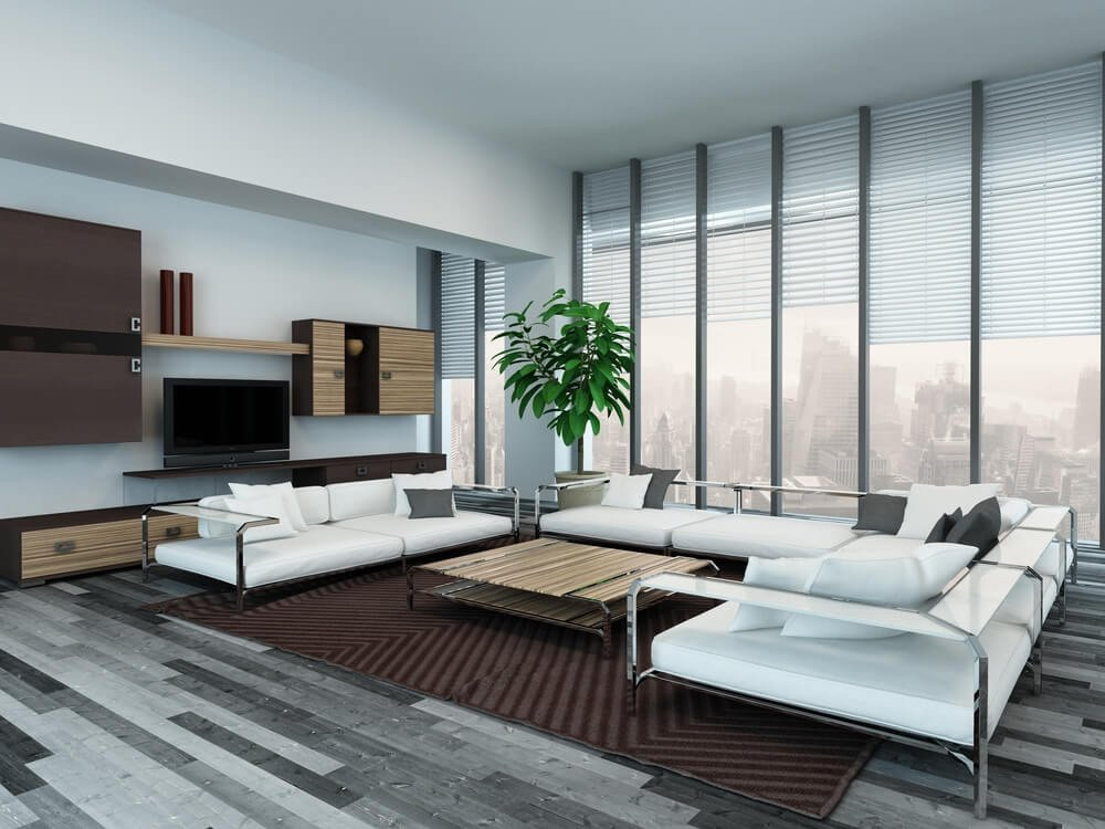 Contemporary Living Room Flooring 45 Contemporary Living Rooms with Sectional sofas