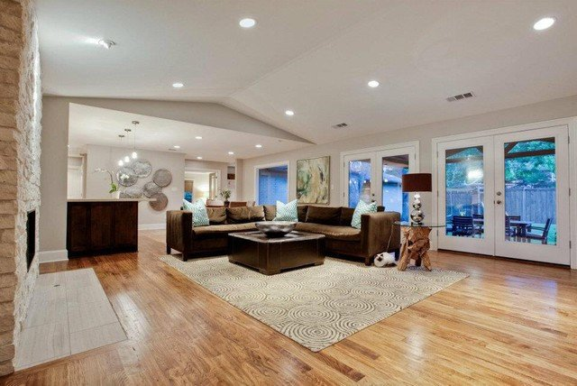 Del Roy Project Nortex Custom Hardwood Floors contemporary living room dallas