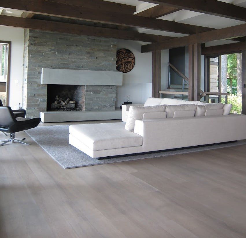 Contemporary Living Room Flooring Hot Wood Flooring Trends