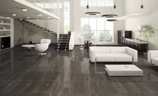 Contemporary Living Room Flooring Tile & Natural Stone Products We Carry Modern Living