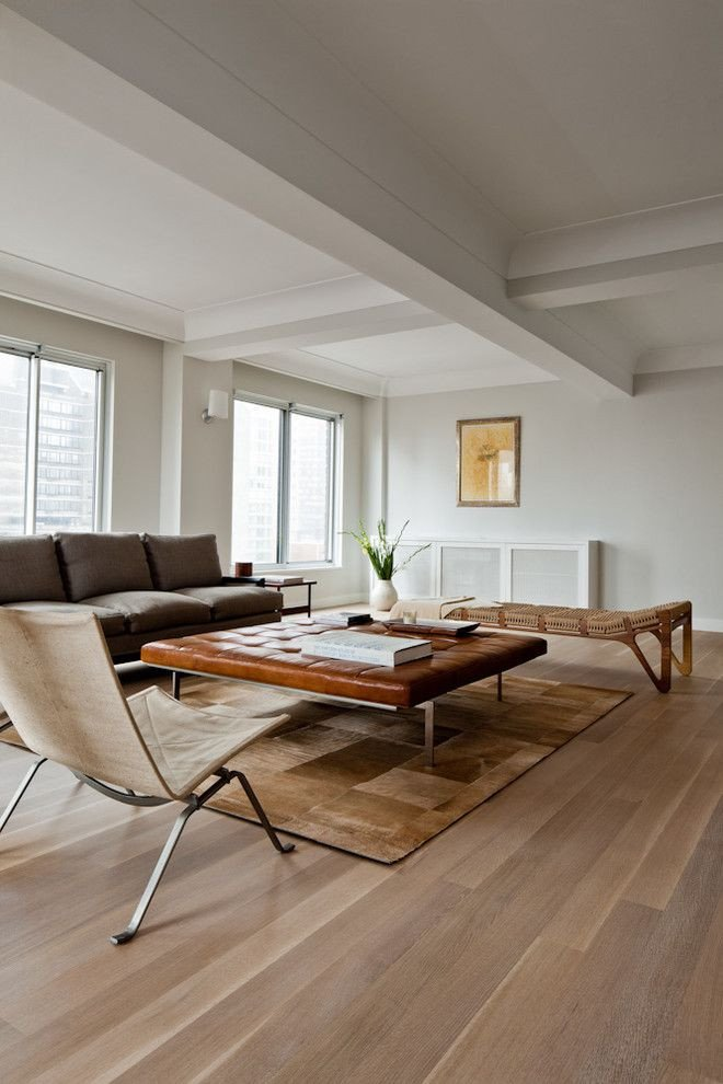 Contemporary Living Room Flooring White Oak Floors Living Room Contemporary with None