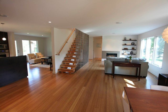 Contemporary Living Room Flooring why Choose Sustainable Bamboo Flooring for Modern