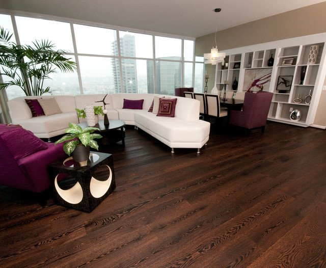 Contemporary Living Room Flooring Wide Plank Wood Floors In Living Rooms Contemporary