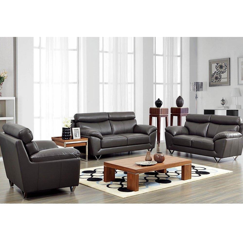Contemporary Living Room sofas 8049 Modern Leather Living Room sofa Set by Noci Design