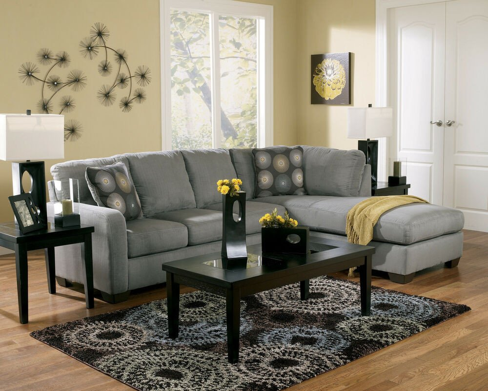 Contemporary Living Room sofas Contemporary Charcoal Sectional Modern Couch Living Room