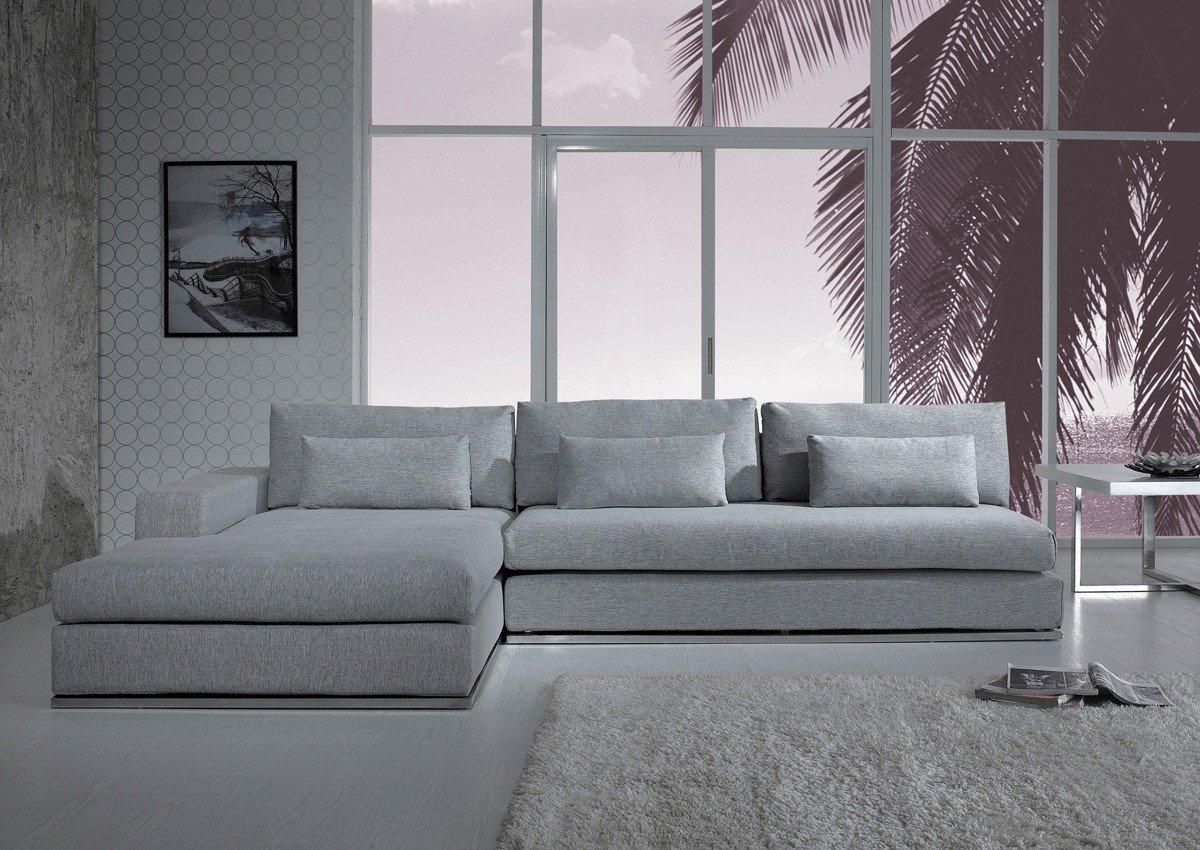 Contemporary Living Room sofas Divani Casa ashfield Modern Fabric Sectional sofa
