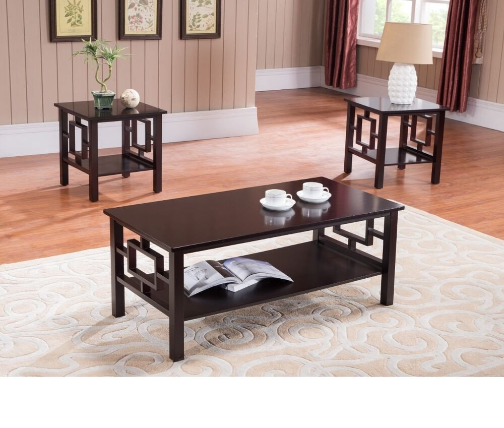 Contemporary Living Room Tables Coffee Table Set Living Room Furniture End Contemporary