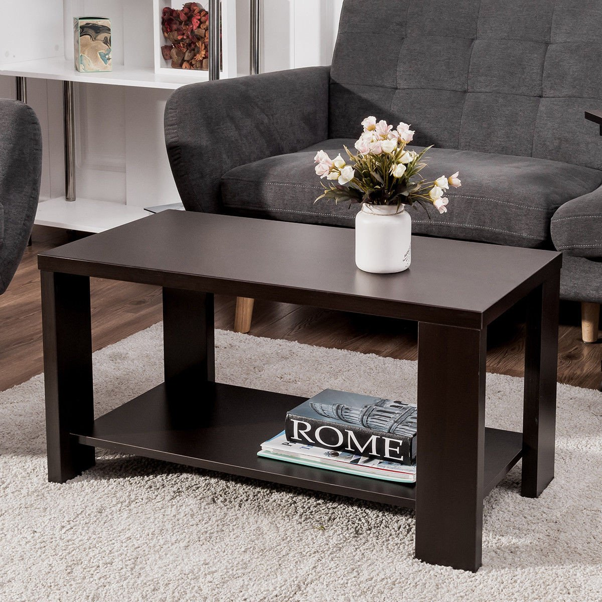 Contemporary Living Room Tables Giantex Coffee Table Rectangular Cocktail Table Wood