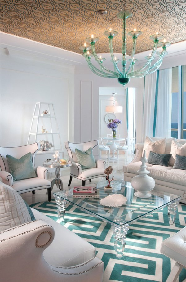 Contemporary Living Room Turquoise 15 Scrumptious Turquoise Living Room Ideas
