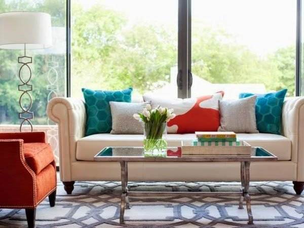 Contemporary Living Room Turquoise 20 fortable Living Room Color Schemes and Paint Color Ideas