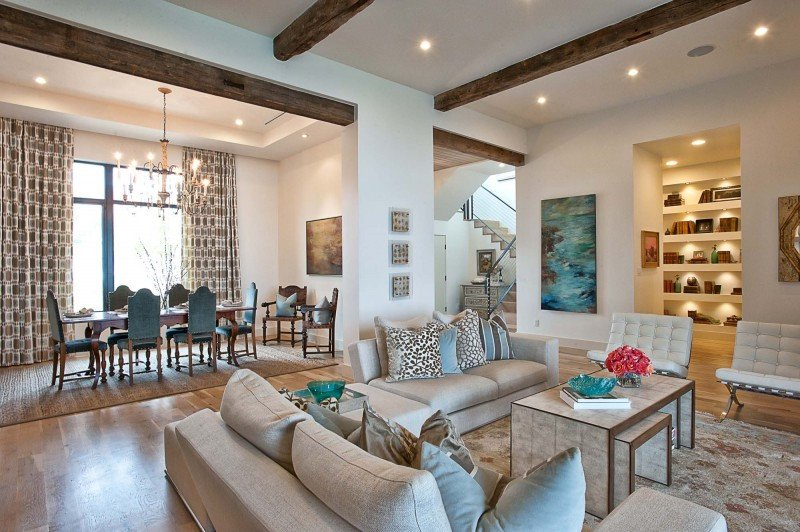 Contemporary Living Room Turquoise Contemporary Texas Residence Bines Antique touches with
